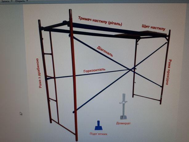Леса ЛСРП 200(будівельні риштування) рамного типу до 40м