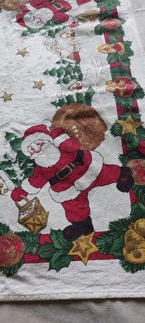 Скатерть новогодняя, новый год, дед мороз
