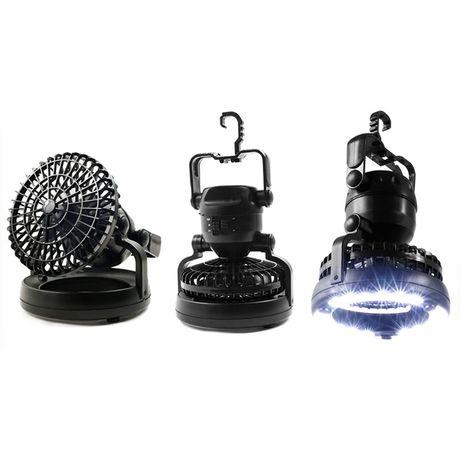 Светодиодный светильник и вентилятор для кемпинга 2 в 1 - Happy Camper