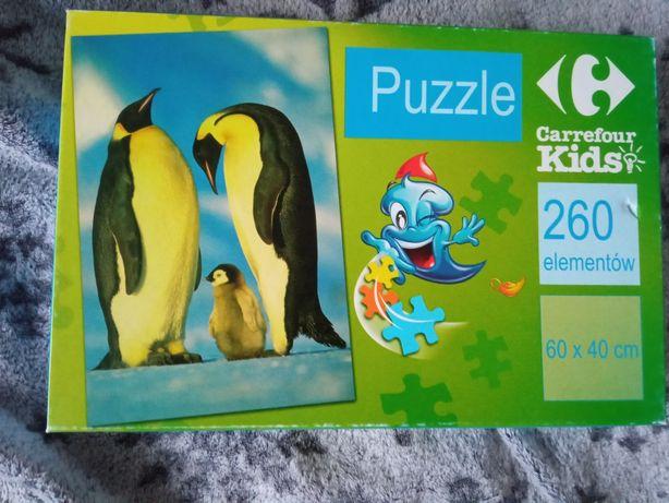 Puzzle 260 pingwiny natura przyroda