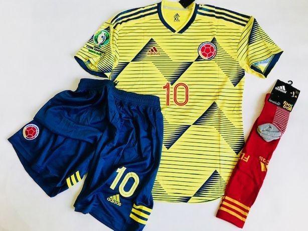 KOLUMBIA zestaw piłkarski Adidas Authentic, #10 James, roz. XL