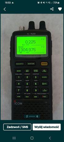 Profesjonalny ICOM R20 ręczny skaner częstotliwości