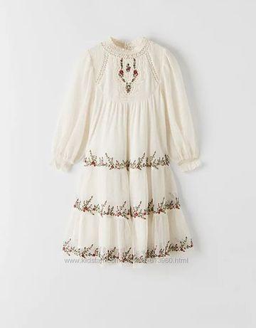 Шикарное платье Zara скидка 12-13 -14 лет