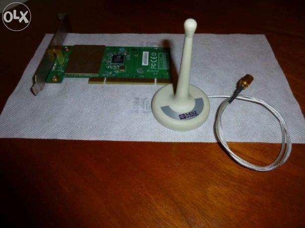 Placa de Rede Wireless MSI PC54G2 com antena para PC