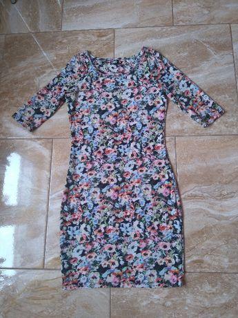Sukienka w bratki Sinsay roz 36 Wiosna!