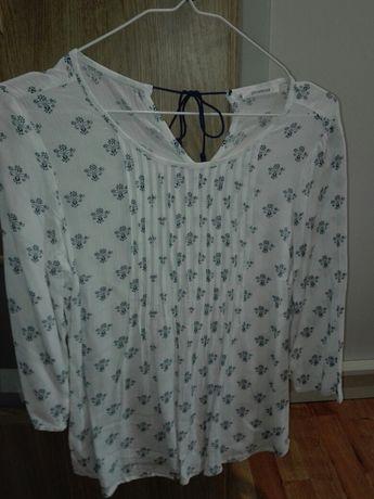 Biała bluzka we wzory rozmiar M