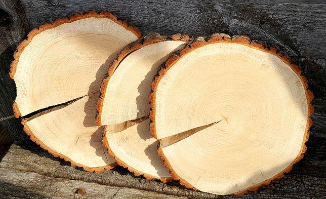 Plastry drewna dąb suche szlifowane wysyłka kurier FV