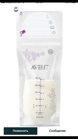 Пакеты для хранения и заморозки грудного молока Avent и lansinoh