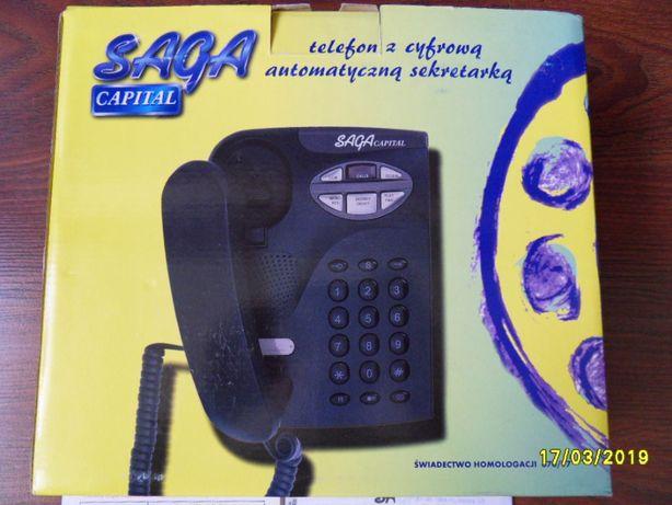 Telefon z cyfrową automatyczną sekretarką SAGA CAPITAL, homologacja