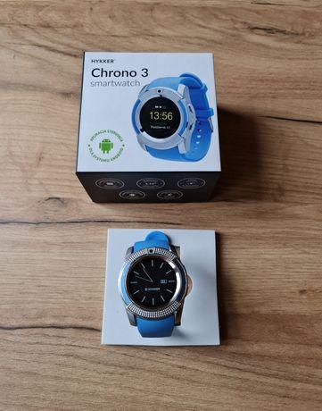 Hykker Smartwatch Chrono 3 na kartę sim niebieski Nowy
