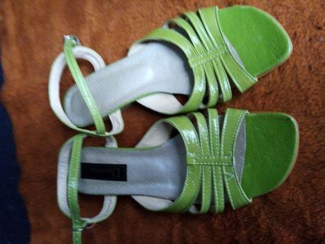 Wyprzedaż 70% obniżka-buty letnie damskie zielone - rozm.37