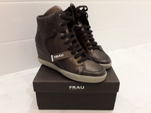 Сникерсы ботинки кожаные, FRAU, Италия, р.38.( diesel, zarа )