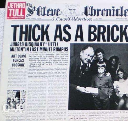 Jethro Tull - Thick as a Brick (1972) Lp vinil