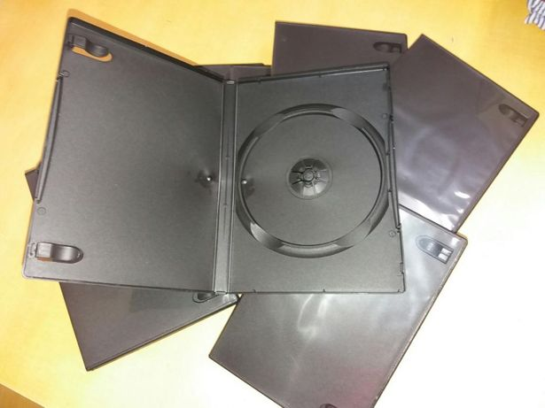 Pack / Lote de 10 caixas de CD / DVD NOVAS nunca foram usadas