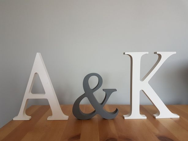 Litery ślubne A & K