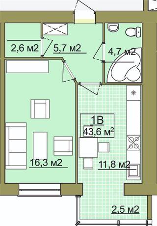 Продам, 1-кімн., 6 пов. Височана-Шухевича!
