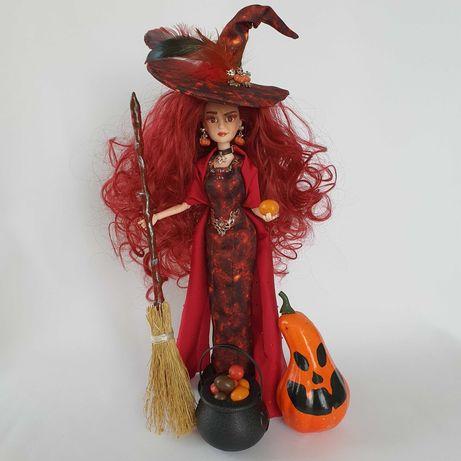 Красная ведьма декор для Хэллоуина коллекционная кукла
