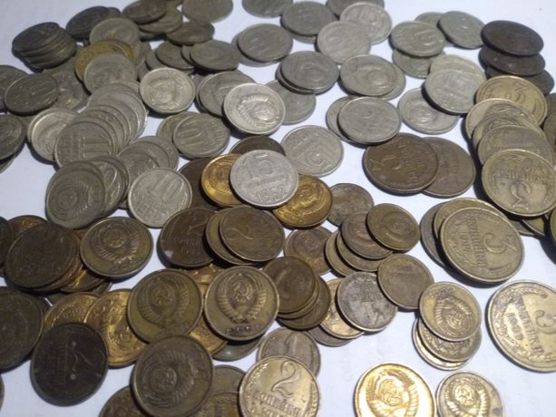 1, 2, 3, 10, 15, 20 копеек СССР 1961 - 1990, монеты, более 600