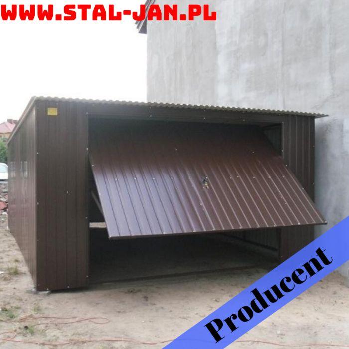 Garaż blaszany/blaszak brąz 4x6, spad tylny, uchylna brama, małopolska Nowy Targ - image 1