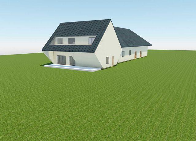 Działka + projekt + pozwolenie na budowę hali usługowo - magazynowej