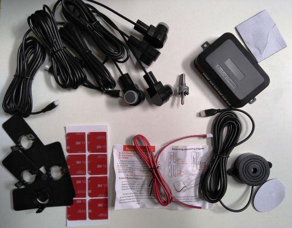 Kit sensores de estacionamento, parqueamento, sonoro, universais