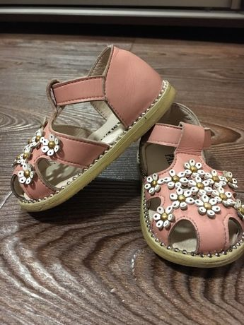 Босоножки-сандали для девочки цвет пудра 17 размер
