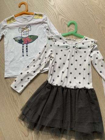 Sukienka i bluzka na 122 H&M, reserved