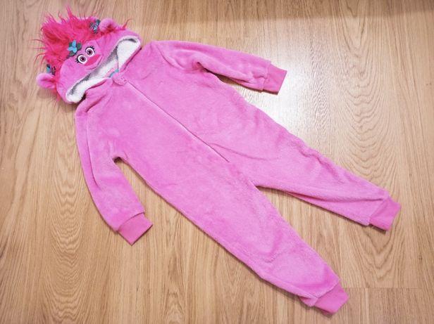 Кигуруми троль Розочка 4-6 років 116 костюм піжама комбінезон тролі