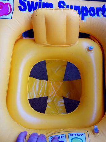 Детский безопасный надувной круг baby swim support abc