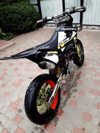 Husqvarna ch racing supermoto обмен  motard stunt wr wre 125 ktm 250