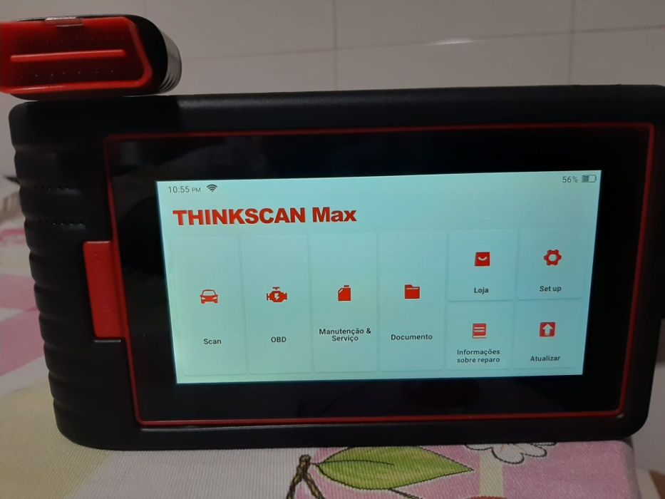 Máq. Diagnostico Auto thinkcar- max , usa software Launch 5anos Garant