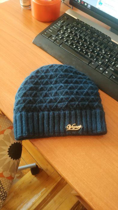 Продам синюю теплую женскую шапку Запорожье - изображение 1