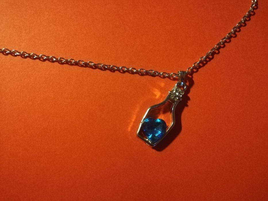 Naszyjnik butelka z niebieskim serduszkiem Skawina - image 1