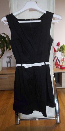 Granatowa sukienka r36