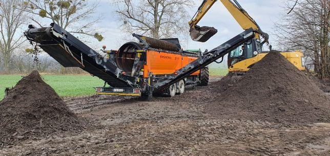 wynajem przesiewacza przesiewanie ziemi kompostu flotu torfu kamieni