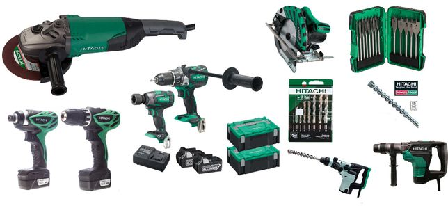 REVENDA - Lote de ferramentas elétricas Hitachi e diversos acessórios