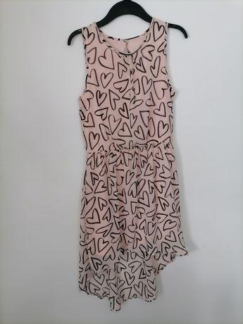Letnia sukienka we wzory r. S Asymetryczna