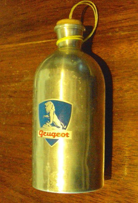 Bidão aluminio antigo marca Peugeot Ponte de Lima - imagem 1