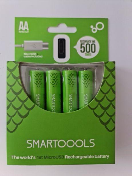 Перезаряжаемые АА батарейки (пальчиковые) / аккумуляторы с micro-usb