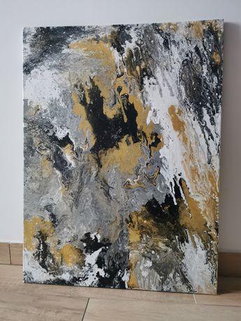 Obraz ręcznie malowany 60x80cm płótno Acrylic Pouring