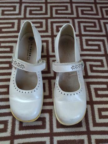 Туфли RICHTER жемчужного цвета из мягкой натуральной кожи, размер 35