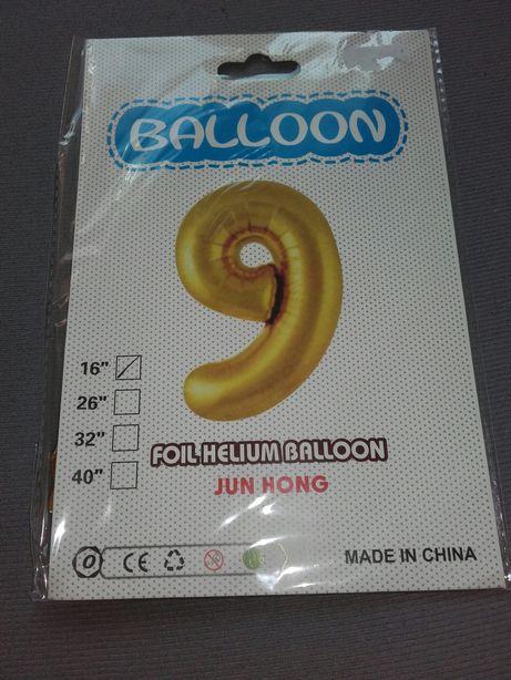 Urodziny Balon 9 nowy złota liczba