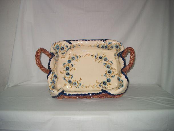 Cesto cerâmica (verga e pano em louça)