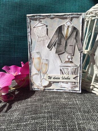 Kartki okolicznosciowe handmade, cardmaking, rękodzieło, ślub