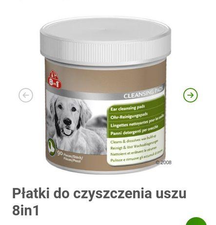 Płatki 8w1 do czyszczenia uszu psa/kota