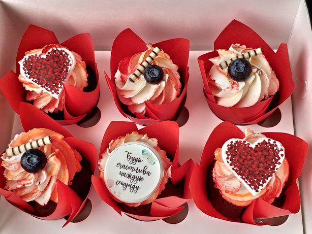 Капкейки подарок 8 марта заказать сладости на 8 марта Бровари Бровары