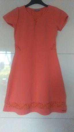 Pomarańczowa sukienka S/M