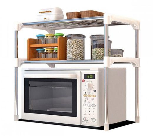 Настольный кухонный стеллаж под микроволновку