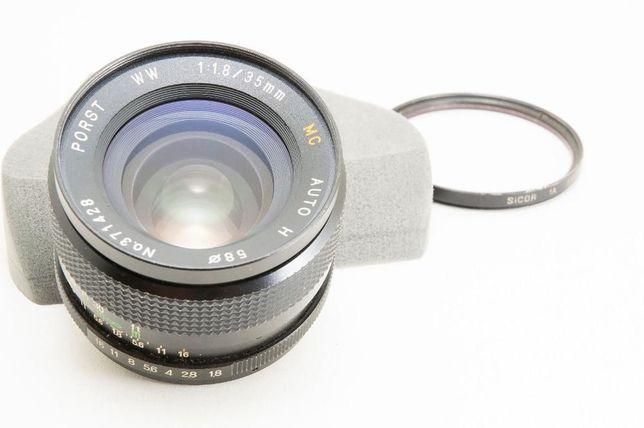 Lente 35mm f/1.8 Porst m42 Autofoco Canon EF