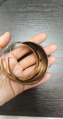 Серьги широкие кольца